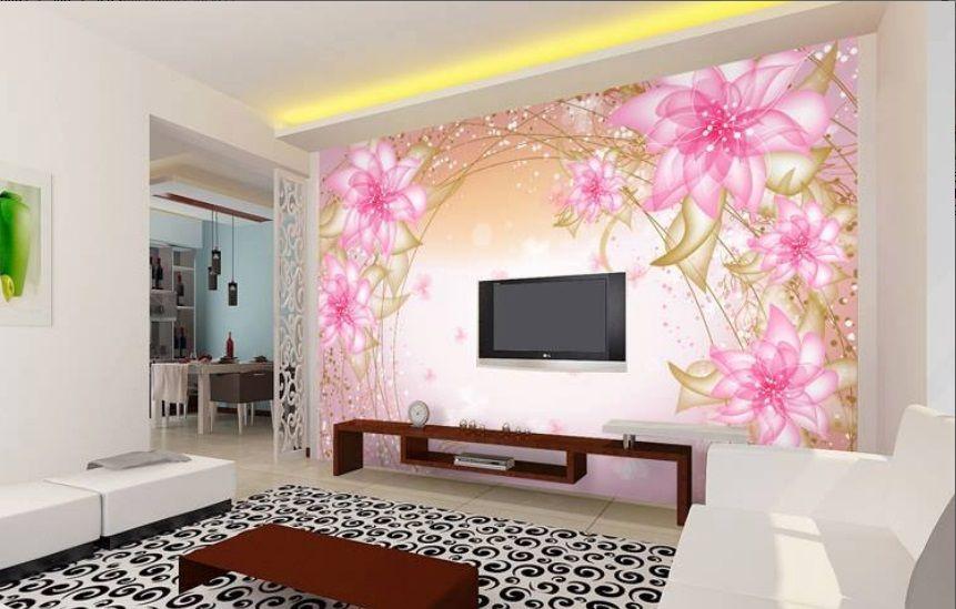 Beautiful Lcd Cabinet Pink Wall Sticker Design Id845 Lcd Cabinet