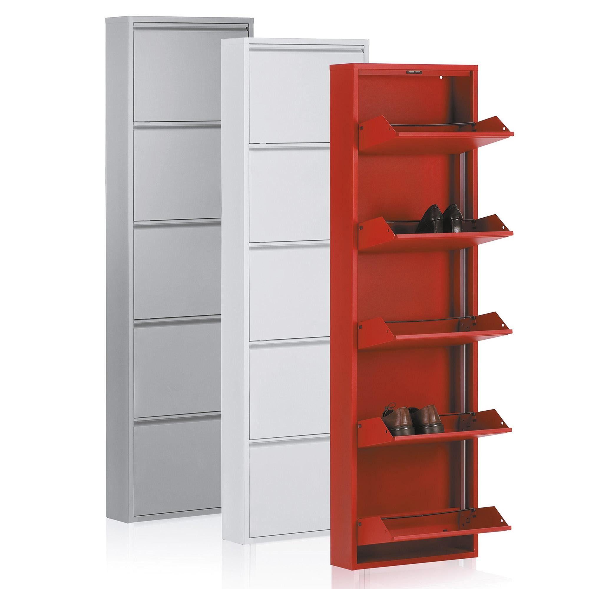 Szafka Na Buty Metalowa Biala Cargo 50x Kolor Bialy 770306bla Salon Meblowy Warszawa 9design Kave Home Home Tall Cabinet Storage