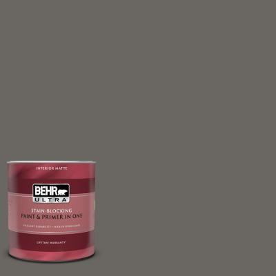 Behr Ultra 1 Qt Ppu24 03 Chinchilla Matte Interior Paint And Primer In One Behr Ultra Interior Paint Exterior Paint