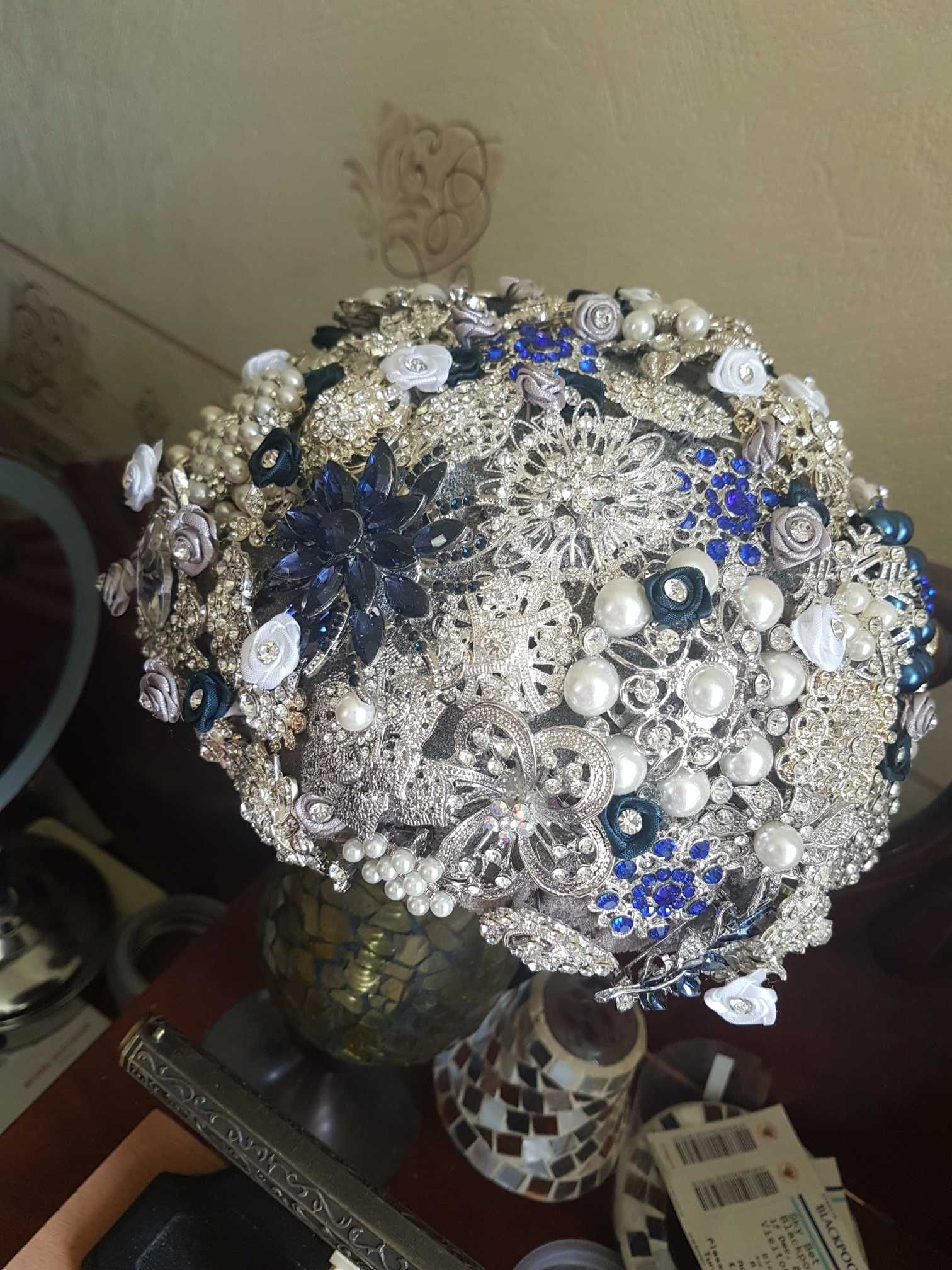 2018 Wedding Brooches Mix 24 Style Silver Pearl Crystal