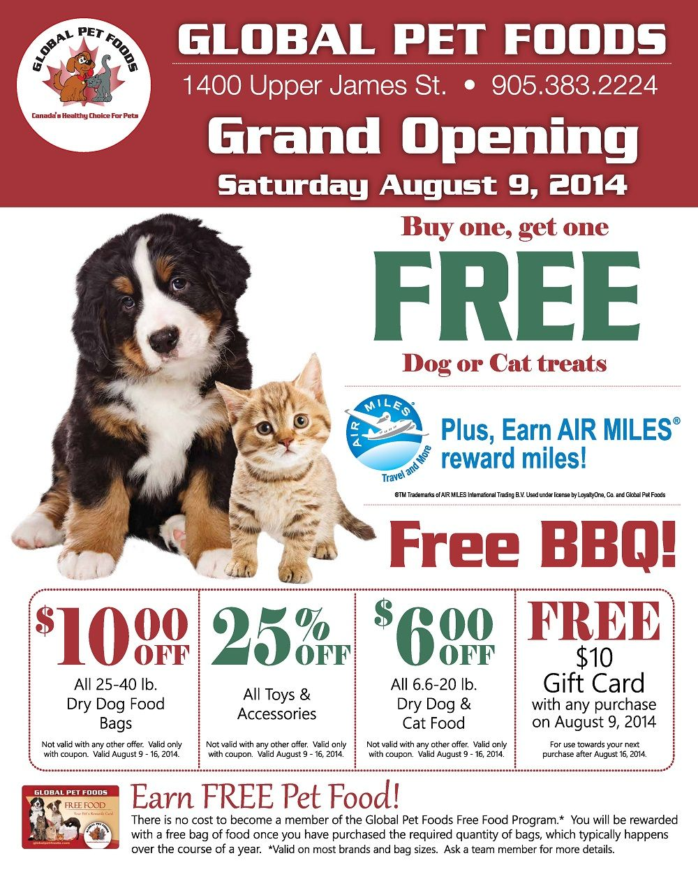 Visit The Global Pet Foods Store In Hamilton Upper James Location