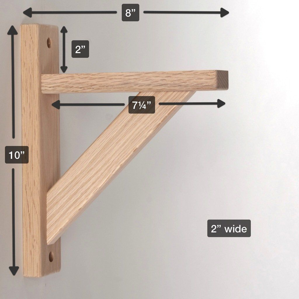 Amazon Com Wood Shelf Bracket Oak Straight 8 Hardware