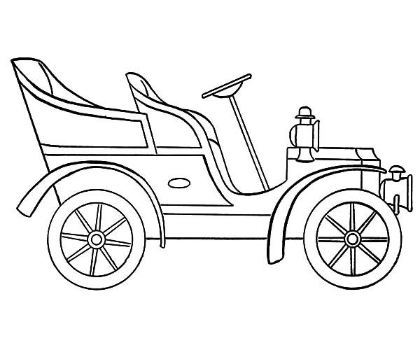 Old Cars Outline