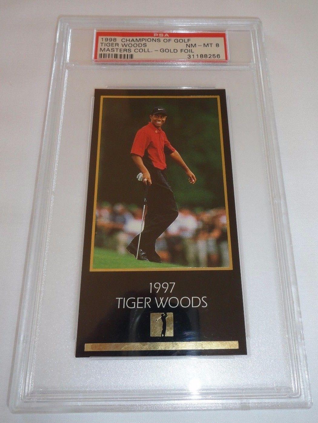 199798 grand slam ventures tiger woods gold foil rookie