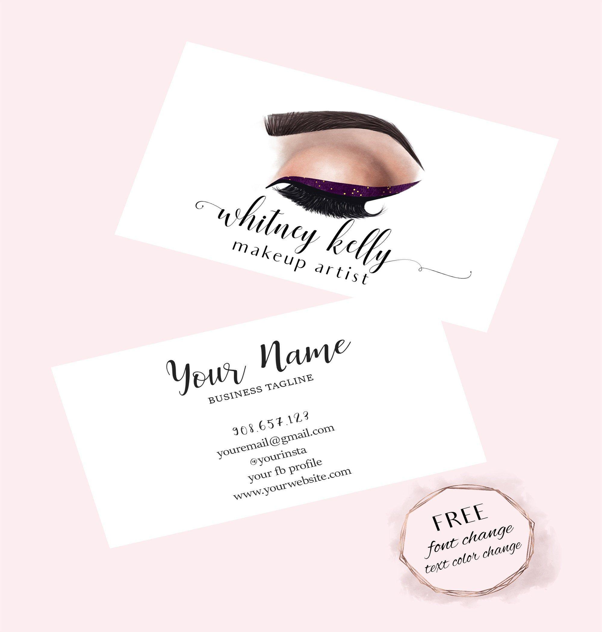 Makeup Business Card Makeup Artist Business Card Lashes And Brows Business Card Makeup Business Cards Makeup Artist Business Makeup Artist Business Cards