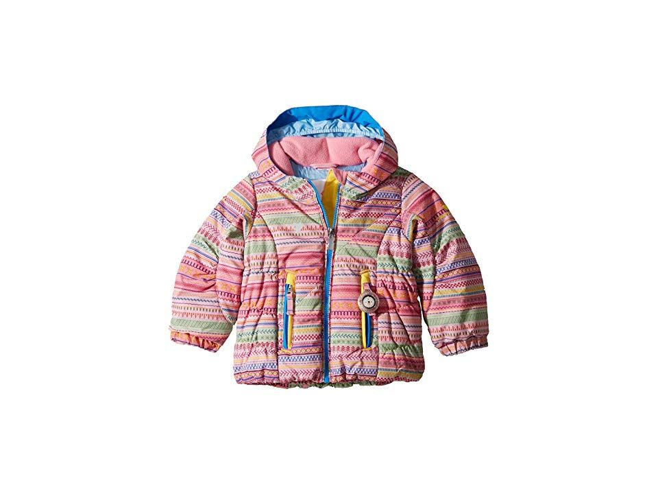 956c7e2d6 Obermeyer Kids Cakewalk Jacket (Toddler/Little Kids/Big Kids) (Hope Chest  Print) Girl's Coat. ; Playing in the fresh powder makes it worry-free when  they're ...