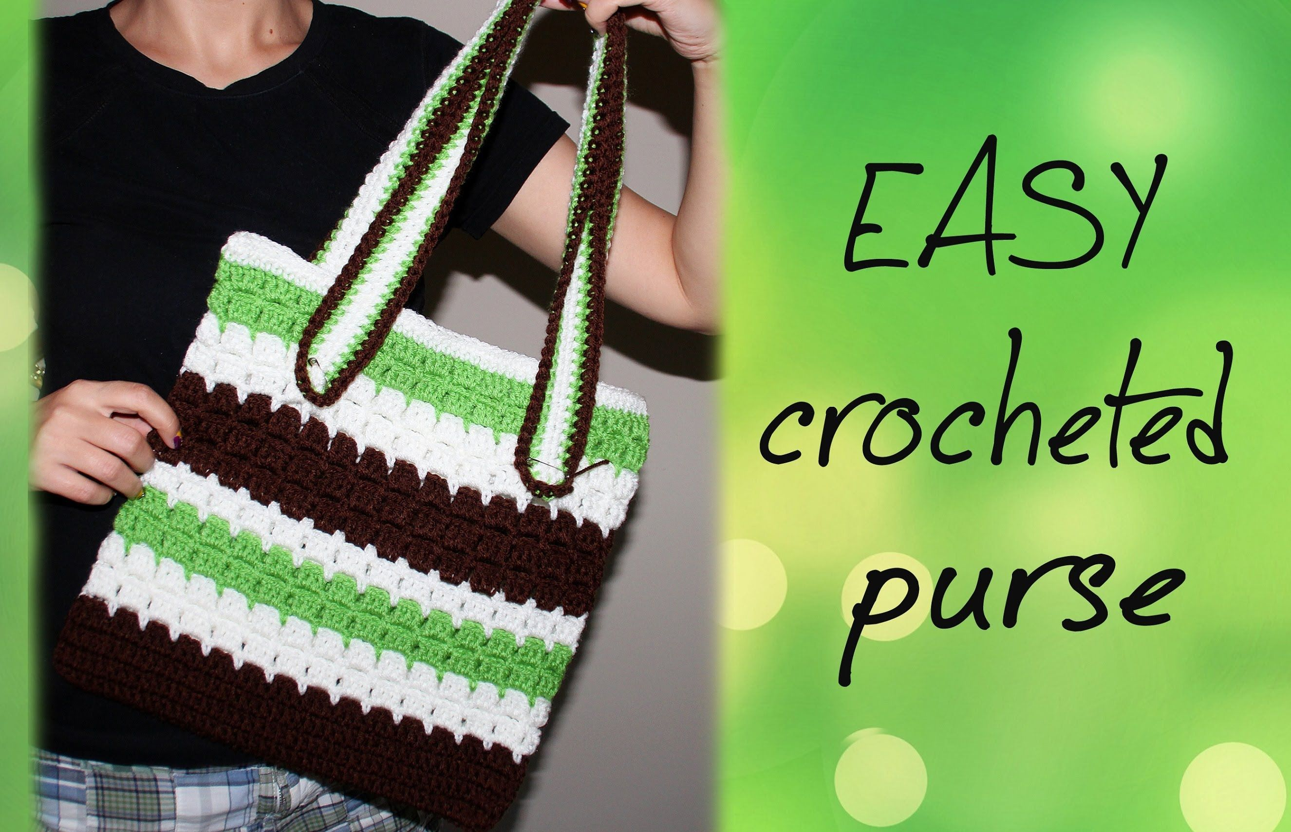 good video to watch Learn how to crochet a purse. Use this pattern ...
