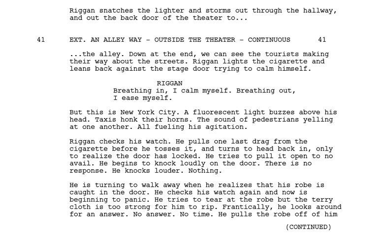 4 Examples Of Good Visual Writing In A Movie Script Movie