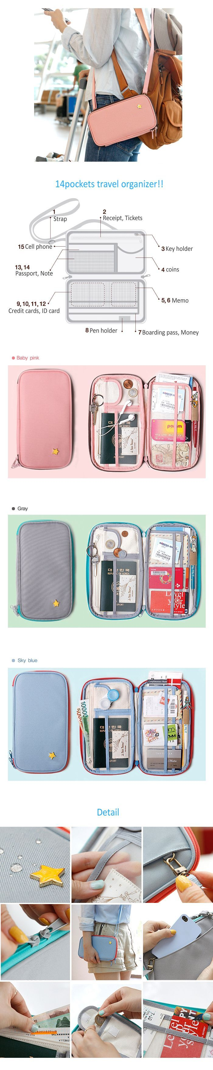 Little Prince B612 Travel Organizer Bag with Strap Passport Holder Case  Wallet  3d226fe110