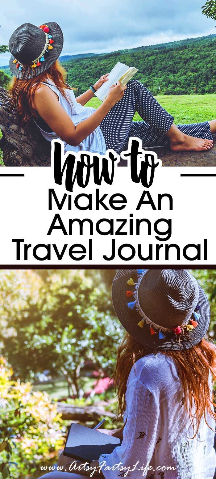 Ideas and inspiration for how to set up your travelers notebook journal. Walkthrough tutorial of how to make a travel journal including covers, inserts, supplies and writing.