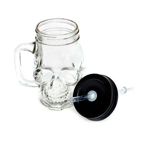 Glazen schedel drink beker wit - Gothic metal - Alchemy Gothic