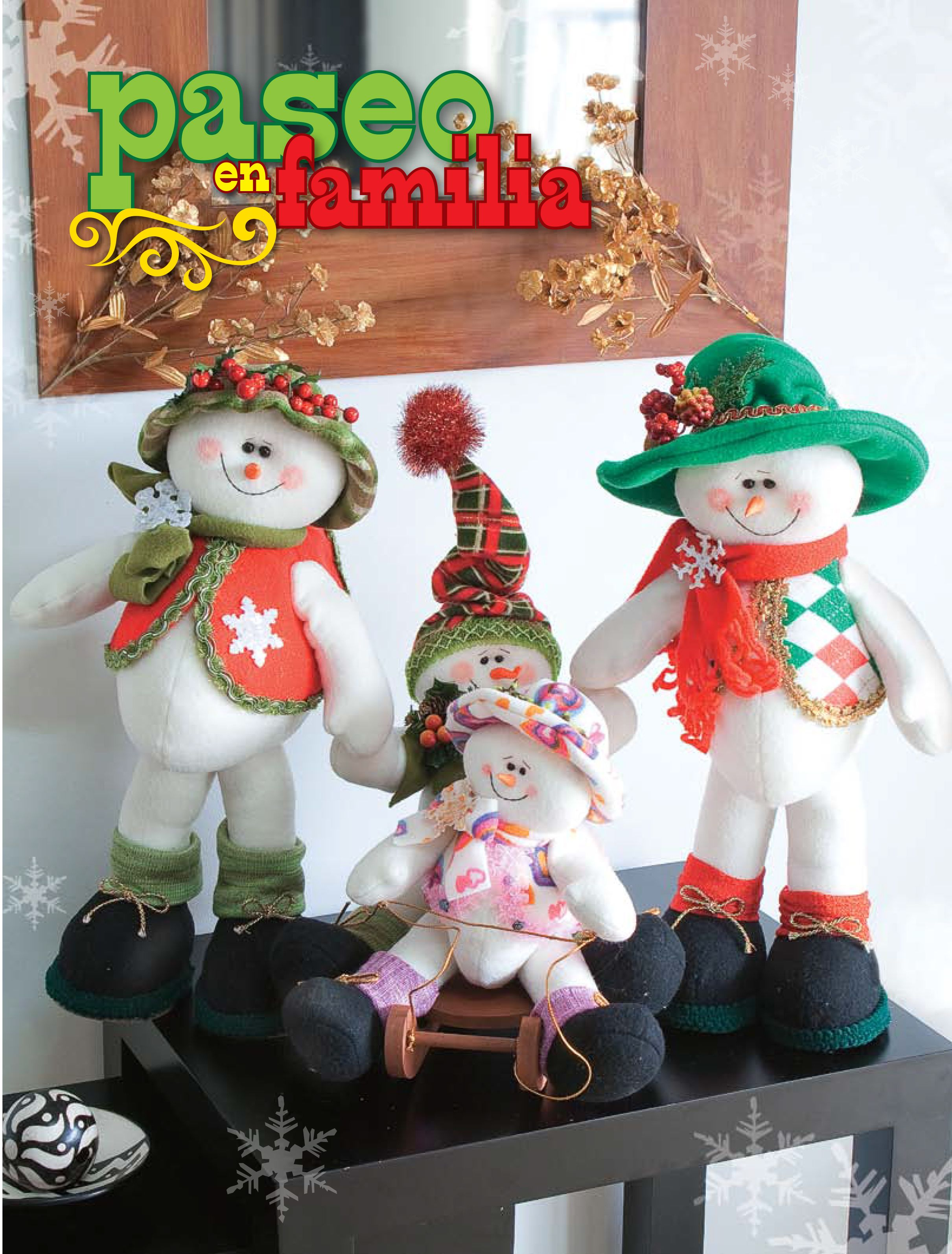 Moldes o patrones para elaborar hermosos mu ecos navide os - Munecos de navidad ...