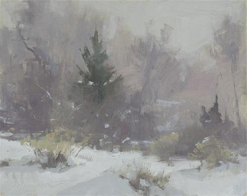 "Daily Paintworks - ""2-9-1 Freezing Fog #1"" - Original Fine Art for Sale - © Marc Hanson"