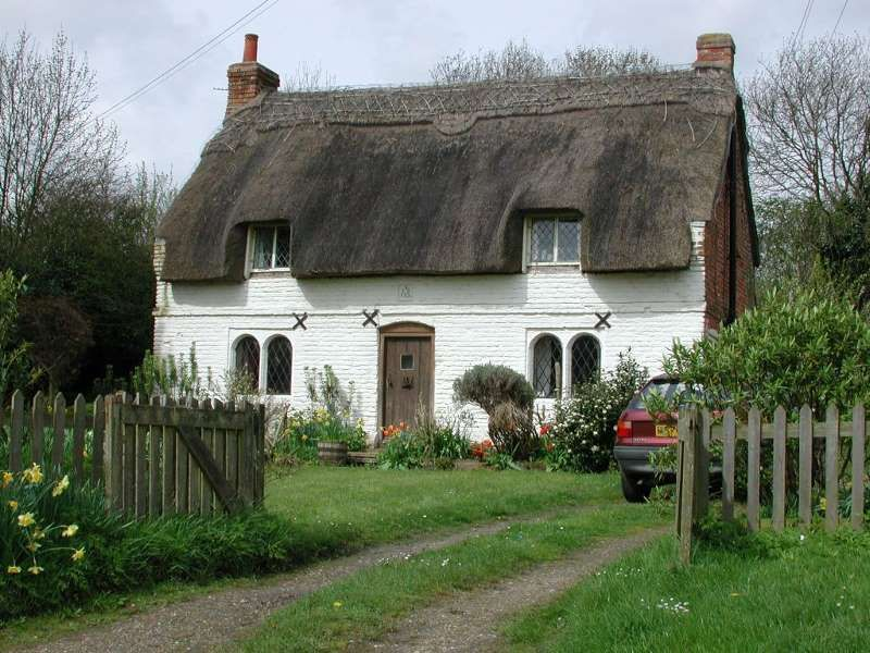 Thatched Cottage By Trevor Edwards Thatched Cottage English Cottage Fairytale Cottage