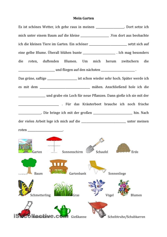 Mein Garten Deutsch Lernen Spiele Deutsch Lernen Lernen Tipps Schule