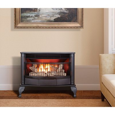 This ProCom Dual Fuel Vent-Free Stove complements any decor. No hassling with cutting wood or hauling ashes. Dual fuel technology burns propane or natural gas.