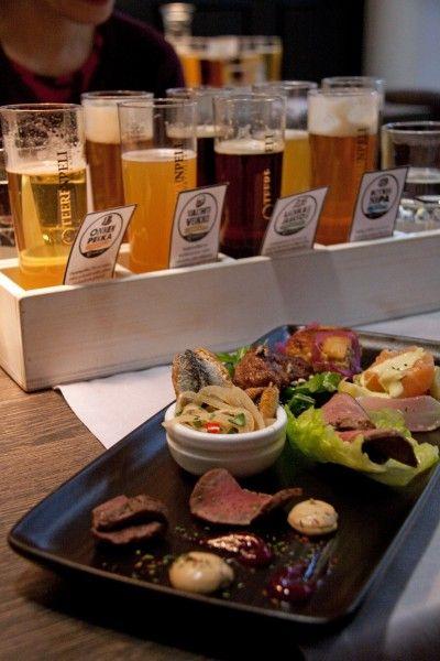 Tasting –tilaisuudessa keittiömestarin Toni Ylärakkolan ja Lahdessa toimivan panimon tuotteet kohtasivat. Kuva: Elisabeth Heinrichs