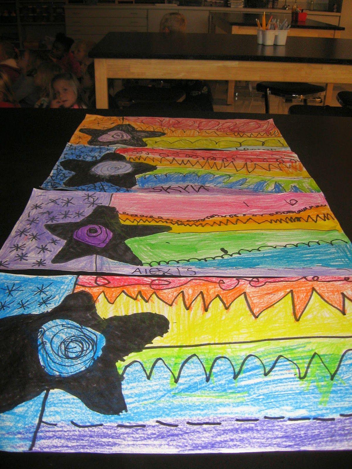 Jamestown Elementary Art Blog Kindergarten Rainbow Order Stars