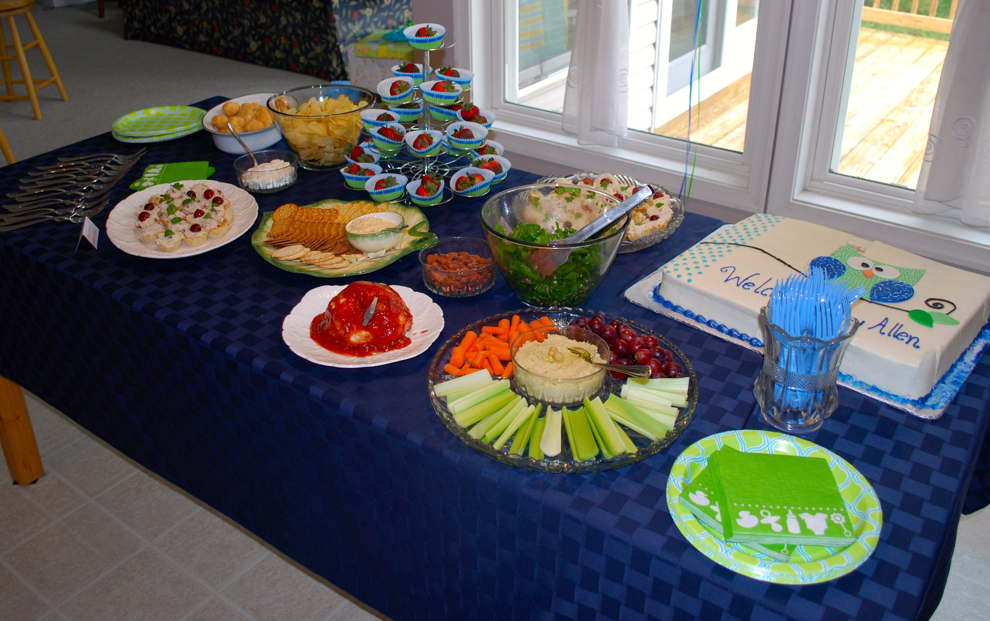Refreshments For Owl Themed, Boy Baby Shower