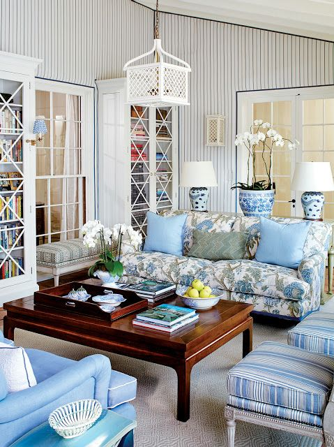 Color Outside The Lines Mark D Sikes In Santa Barbara Living Room Decor Room Decor Blue Living Room