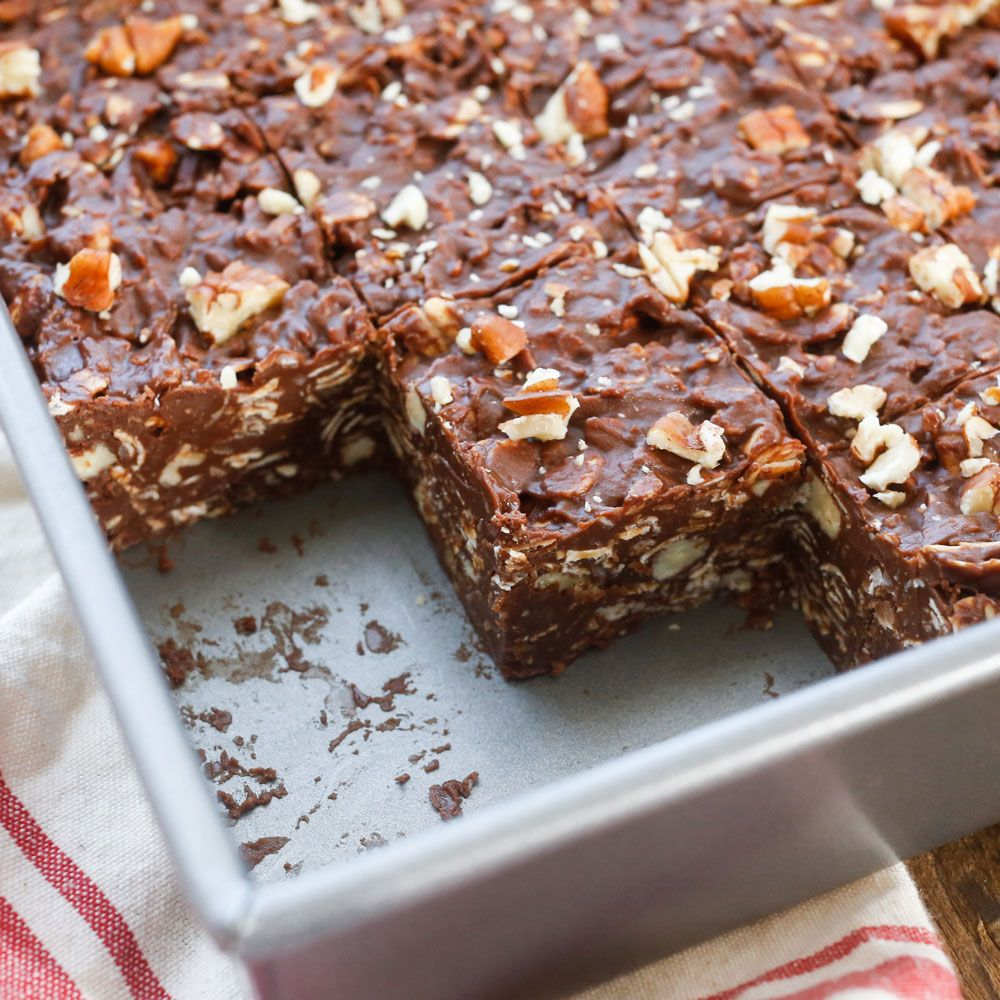 Coconut and pecans are combined with chocolate and peanut butter ...