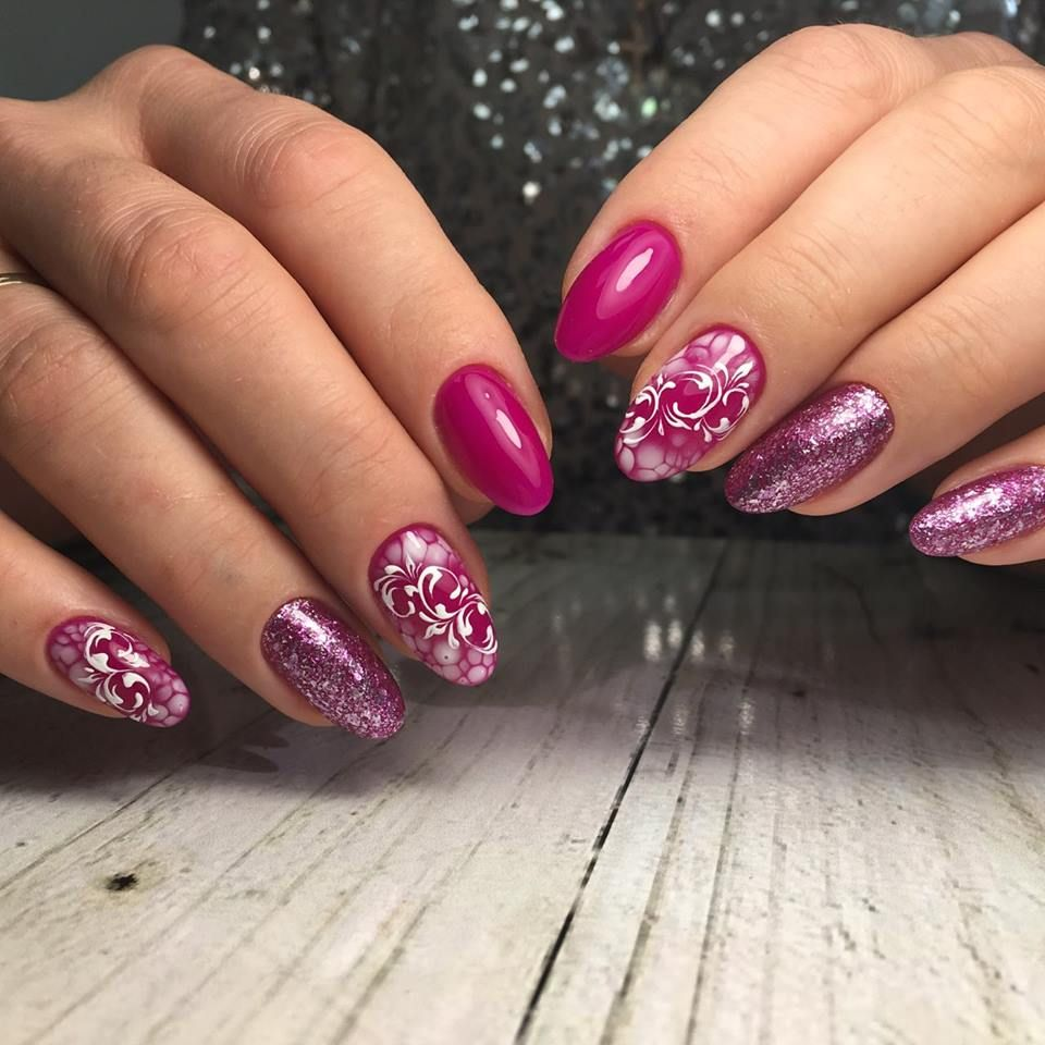 Awesome pink gel nails art design made by Valerija using LUXE GEL ...