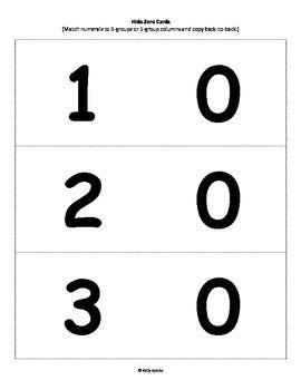 Hide Zero Cards Large Eureka Math Daily Five Math Eureka Math Grade 1