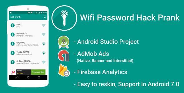 WiFi Password Hack Prank With Admob Ads + Google Analytics +