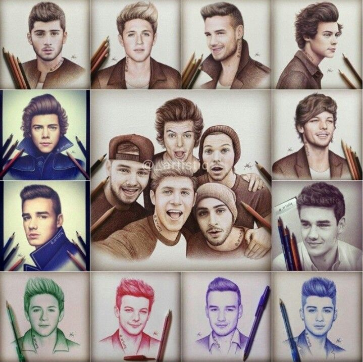 One Direction drawings, these are so good xx