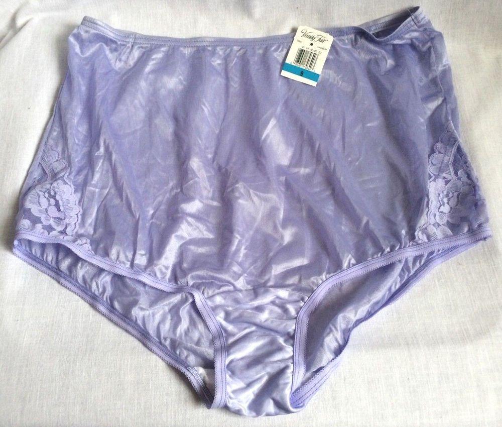 88efc3f462e Vintage 90s Vanity Fair Size 9 Granny Panty Purple Sheer Nylon Lace Insert  New  VanityFair  Everyday