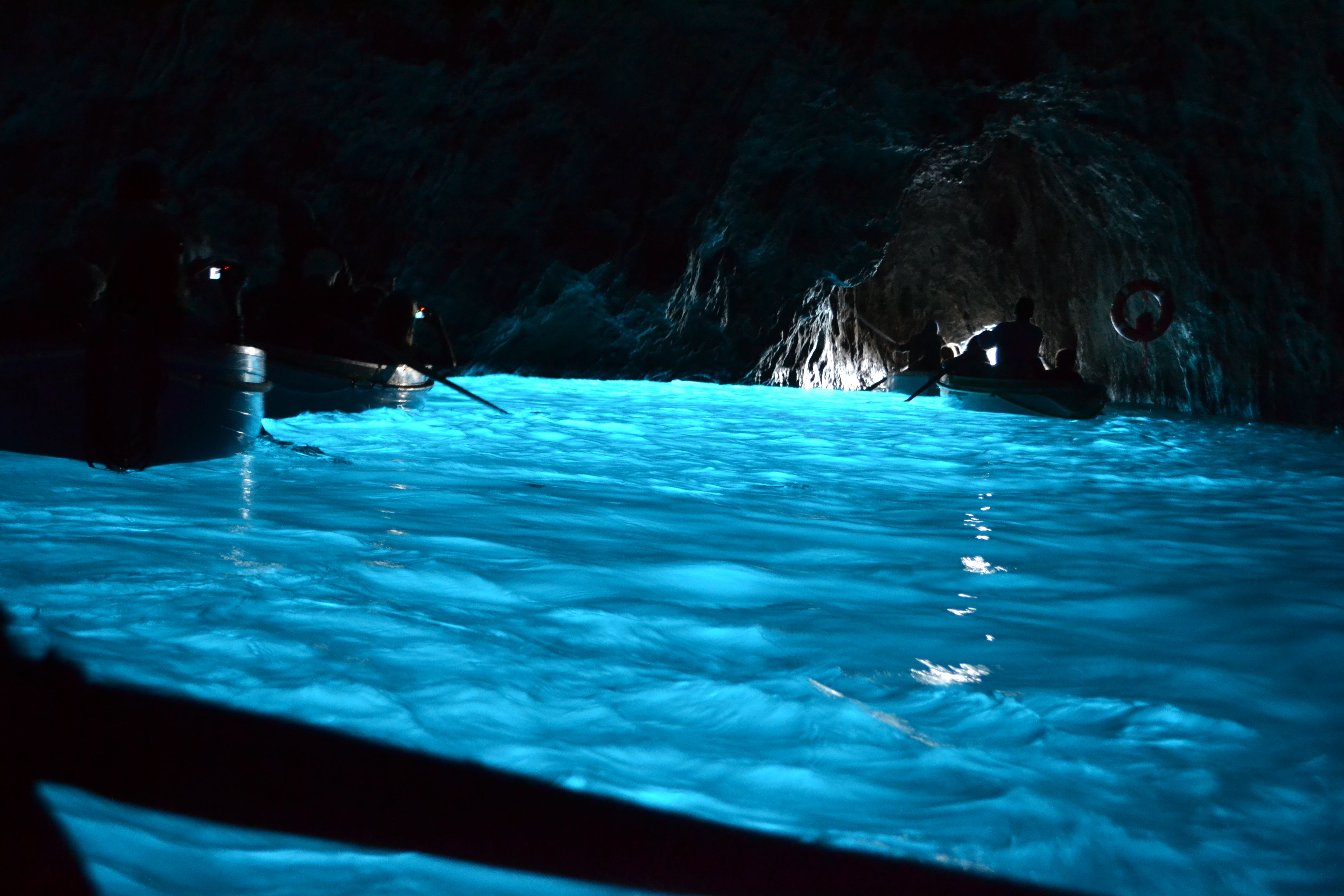 The Blue Grotto in the Island of Capri is one of the 7 ...