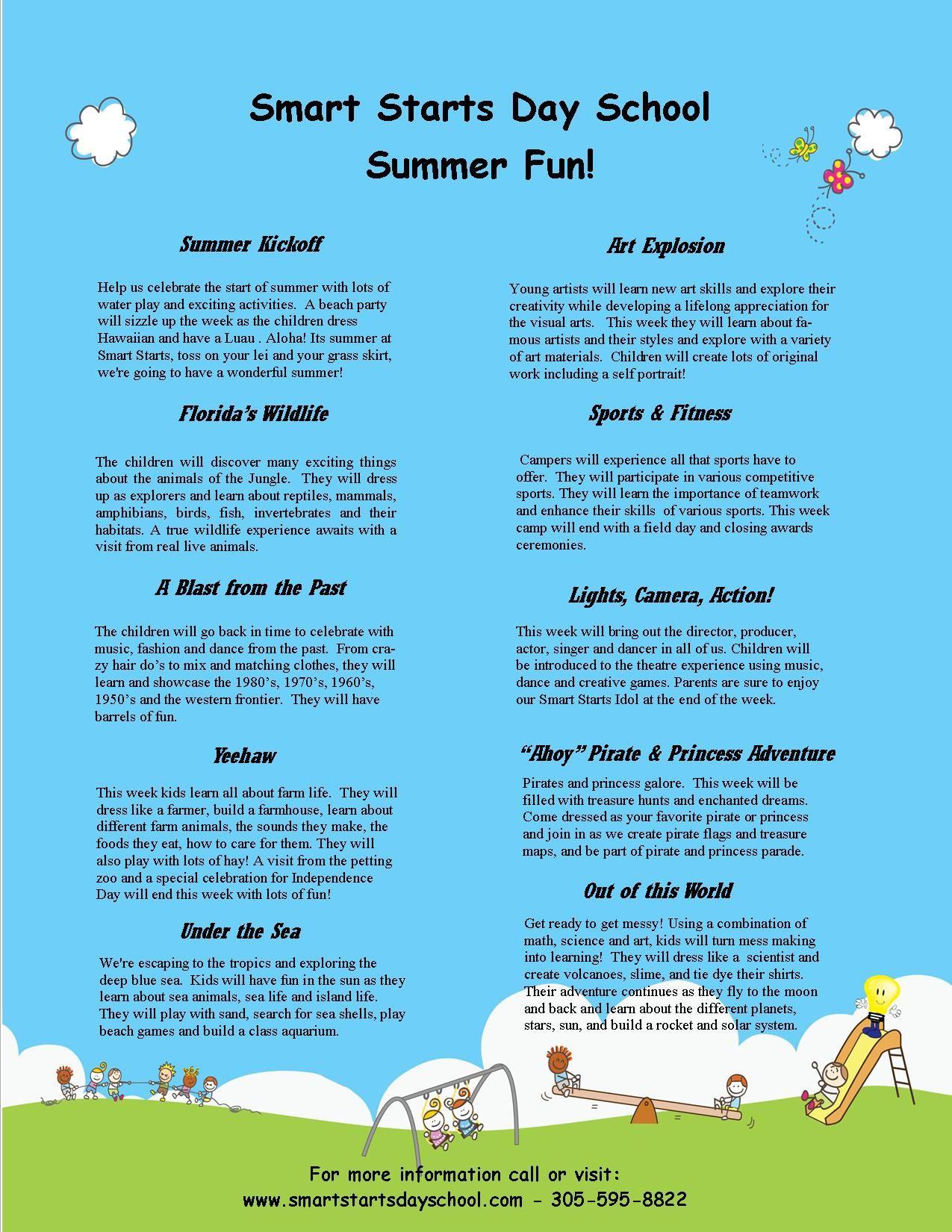 Smart Starts Day School Preschool Summer Camp With Images