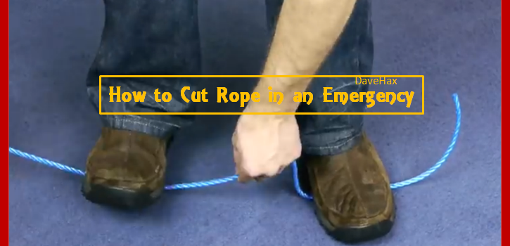 how to shorten a rope without cutting it