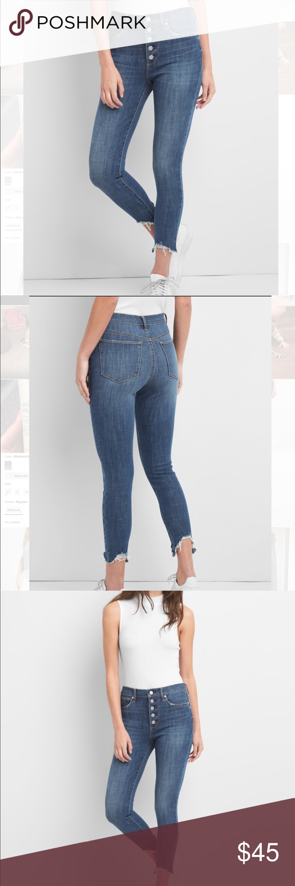2aa1c3a4af High Rise True Skinny Ankle Jeans in 360 Stretch Only worn a couple times!  Like