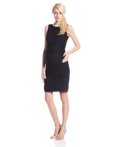 5c2e4fc7362 Ripe Maternity Womens Maternity Sleeveless Stretch Lace Pencil Dress Black  Large   Check this awesome product by going to the link at the image.