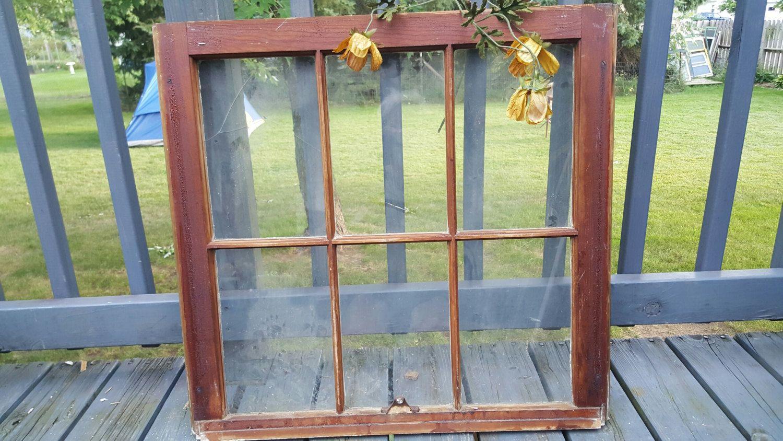 Window Frame 6 Pane Pane Window Wood Window Old Window Rustic Decor Wood Window Frame Window Frame Wood Windows