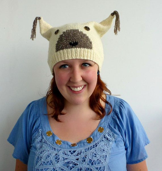 Knit Animal Hat Fox Hat Furry Ear Hat Cosplay by PolClary on Etsy, $30.00