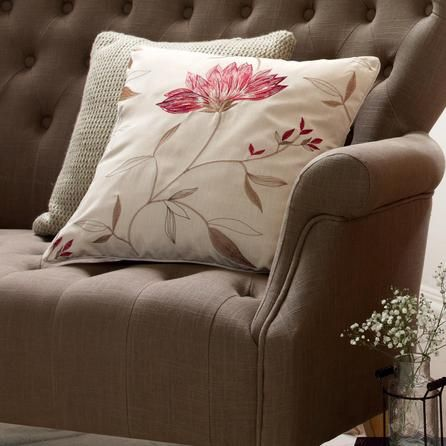 Red Amelia Collection Cushion   Dunelm