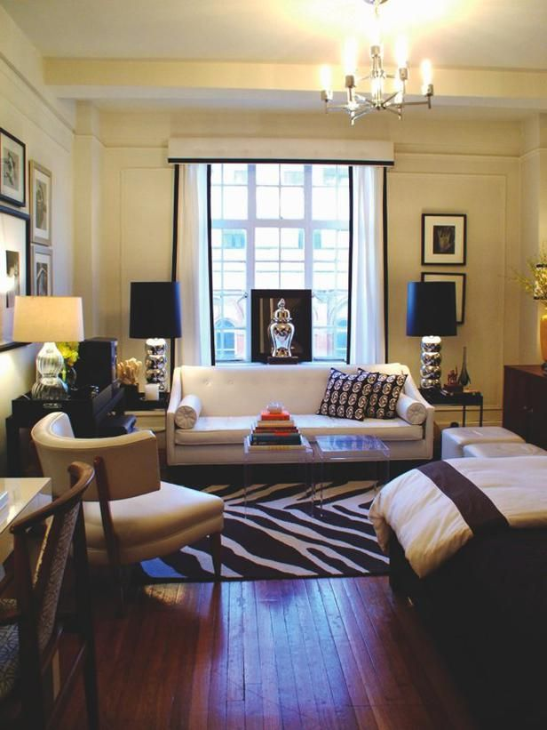 Studio Design Ideas | HGTV Living Rooms | Studio apartment ...