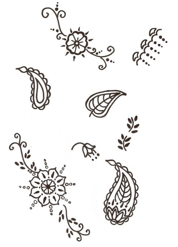 Simple Mehndi Patterns On Paper : Simple henna design for beginners google search