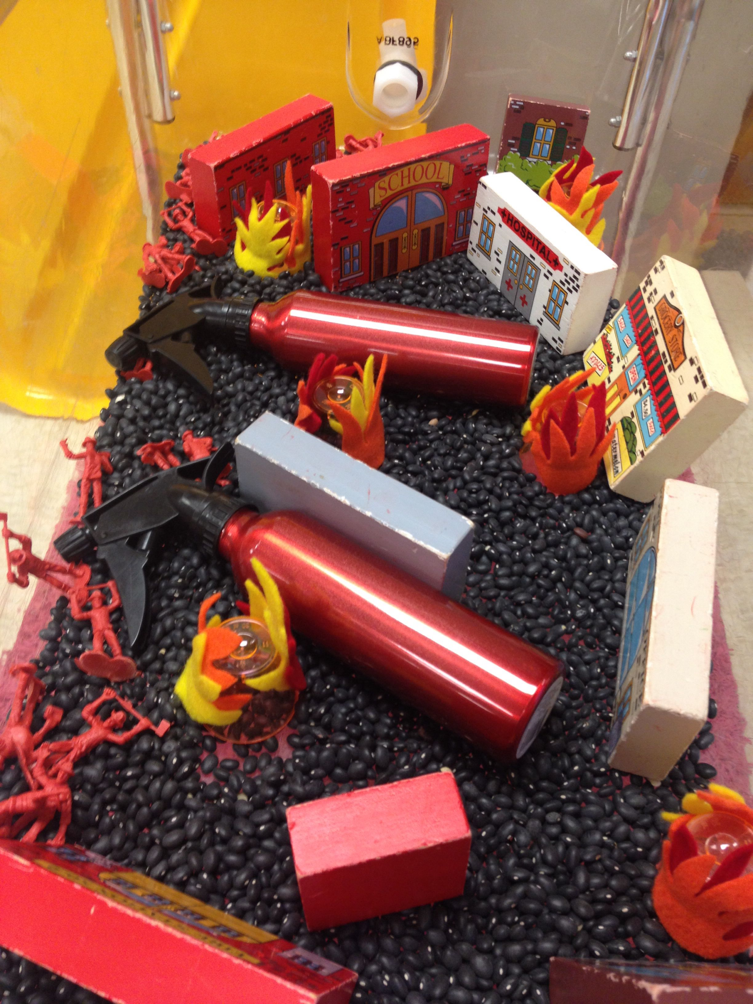 Fire Safety Sensory Table