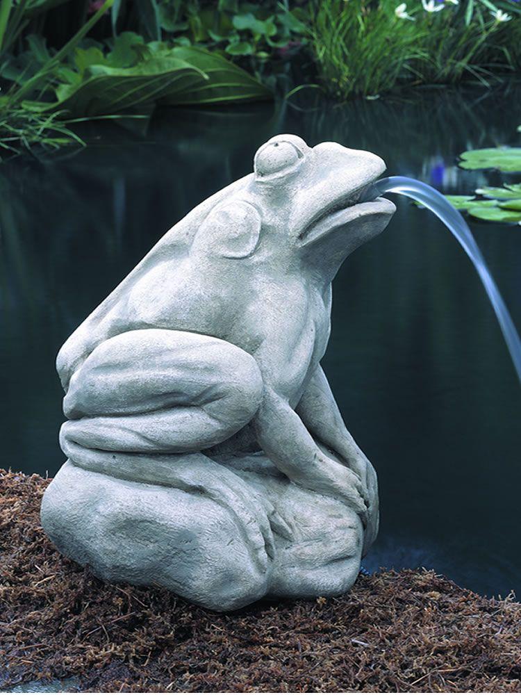 Longwood Italian Water Garden Frog Cast Stone Frog Statue Made By Campania  International