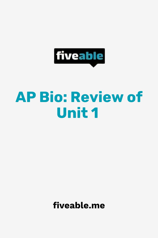 Ap Bio Review Of Unit 1 Ap Calculus Ap Calculus Ab Biology Units [ 1500 x 1000 Pixel ]