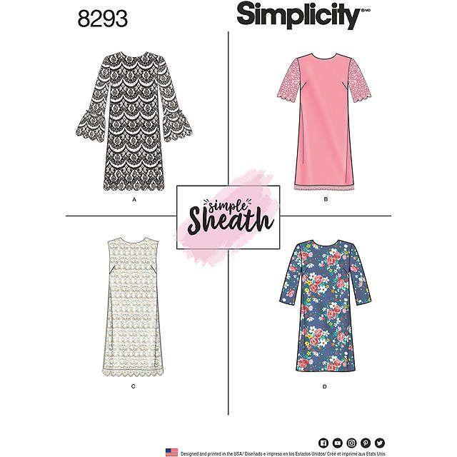 Simplicity Women's Simple Sheath Dress Sewing Pattern