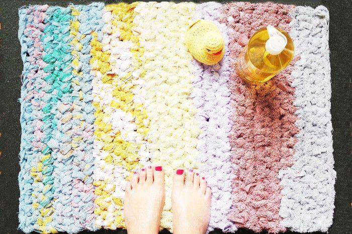 16+ Fabriquer un tapis de bain trends