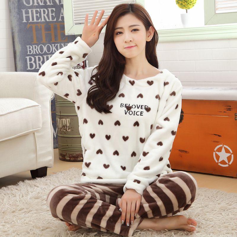 79cb972785 Find More Pajama Sets Information about Home Wear Winter Women pajamas suts  thick sleepwear Pijama Feminino