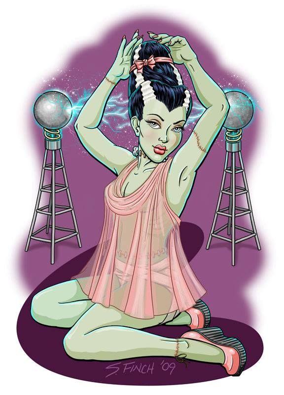 Bride of Frankenstein Pinup