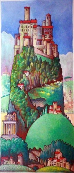 Monte Santa Maria Tiberina, Umbria Italy Art, Painting