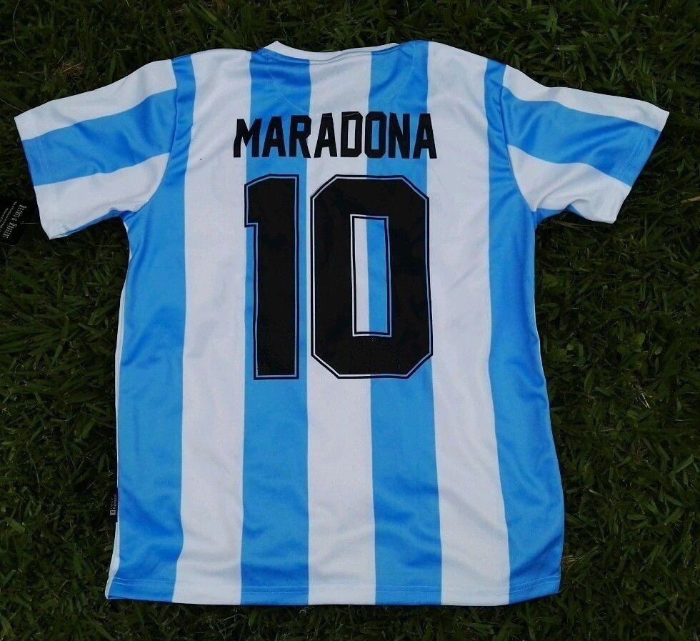 Maradona 10 Personalizzata 1986 Argentina Home Retro Soccer Jersey Argentina Mexico1986 Maglia MARADONA # 10 Retro WORLD CUP Adult Kids Soccer Shirt Kit 18
