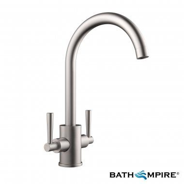 Kitchen Sink Brushed Steel Tap | Tolmer Mixer Tap | Bath Empire